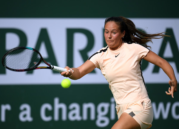 Daria Kasatkina strolled through the match without facing any huge problems other than her nerves | Photo: Harry How/Getty Images North America