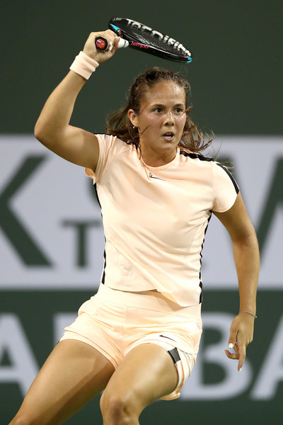Daria Kasatkina's forehand was firing on all cylinders today | Photo: Matthew Stockman/Getty Images North America