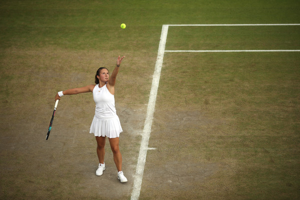 Daria Kasatkina's serving was outrageously impressive today | Photo: Julian Finney/Getty Images Europe