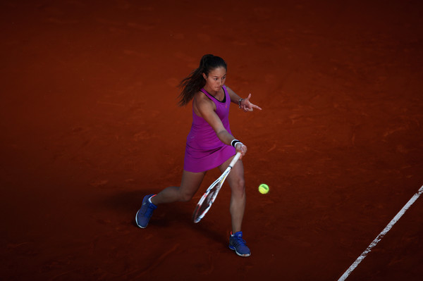 Daria Kasatkina in action at the Mutua Madrid Open last week | Photo: Julian Finney/Getty Images Europe