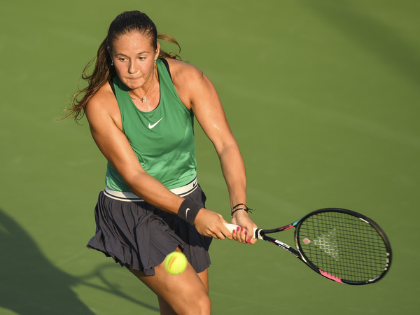 Daria Kasatkina only managed to win two games today | Photo: Minas Panagiotakis/Getty Images North America