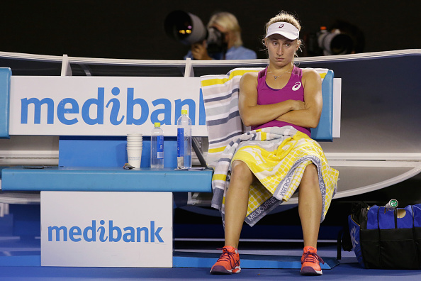 Gavrilova let her emotions get the better of her during a 4th round loss at the Australian Open (Getty/Darrian Traynor)