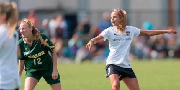Houston Dash playing 2017 NWSL pre-season game against Baylor | Source: NWSLsoccer.com