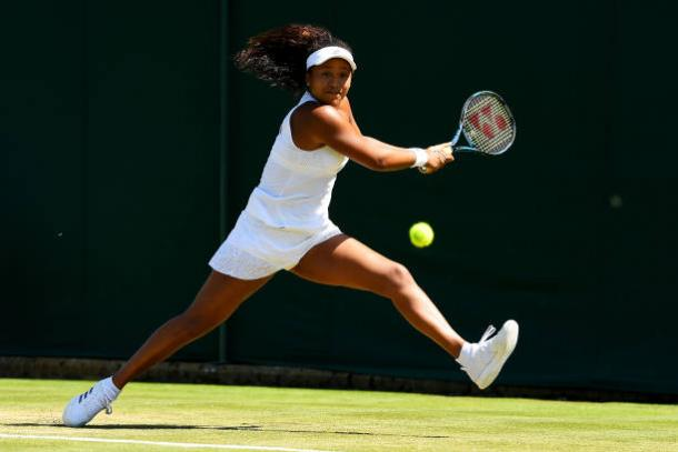 Naomi Osaka should look to be as aggressive as possible against the five-time Wimbledon champion (Getty/David Ramos)
