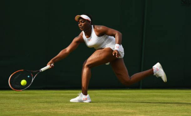 Sloane Stephens in action at Wimbledon this year (Getty/David Ramos)