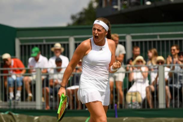Jelena Ostapenko in action at Wimbledon (Getty/David Ramos)