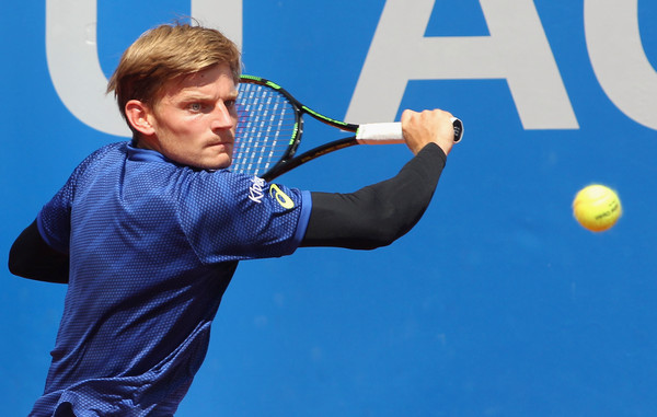 David Goffin in BMW Open action. Photo: Alexandra Beier/Getty Images
