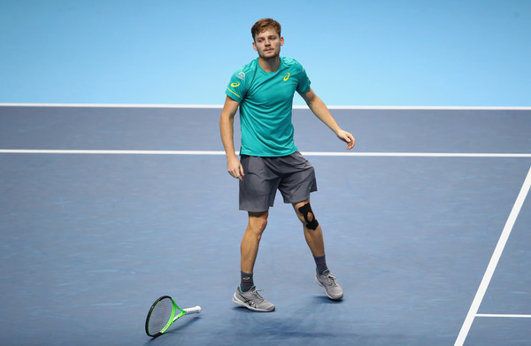 David Goffin could not believe that he had just beaten Roger Federer, especially after losing all his previous meetings with the Swiss | Photo: Clive Brunskill/Getty Images Europe