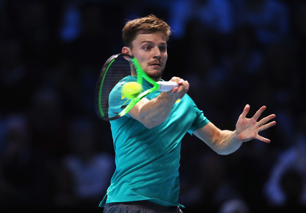 David Goffin's forehands worked really well today | Photo: Julian Finney/Getty Images Europe