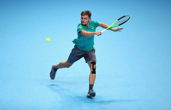 David Goffin in action at the Nitto ATP World Tour Finals | Photo: Clive Brunskill/Getty Images Europe