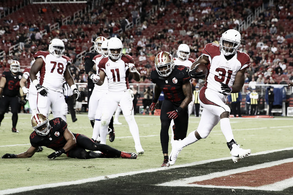 David Johnson and the Cardinals look to get back on track against the 49ers |Source: Ezra Shaw/Getty Images North America|