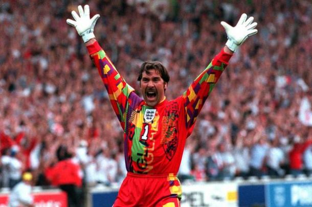 David Seaman was forced to wear this monstrosity throughout the Euro 1996 tournament