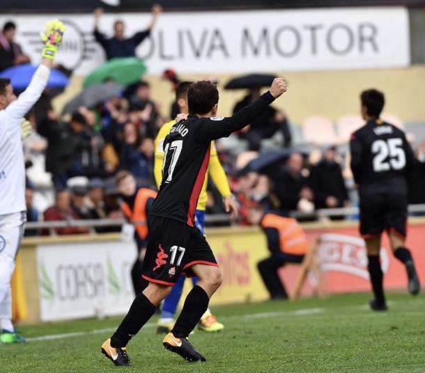 David Haro celebrando el gol de Dejan Lekic | Foto: CF Reus