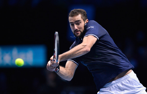 Cilic hits a backhand (Photo by Justin Setterfield/Getty Images)