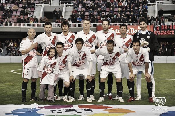 Once inicial en la 2010/11 | Fotografía: Rayo Vallecano