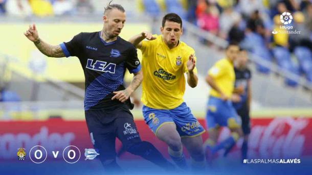 Alexis reaparecía como titular, después de varias jornadas sin hacerlo. Fuente: LaLiga