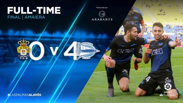 El Deportivo Alavés sellaba su permanencia con la mayor goleada de la Temporada. Fuente: deportivoalaves.com