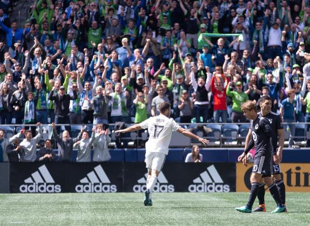 Will Bruin set the Sounders on their way against Minnesota | Source: soundersfc.com