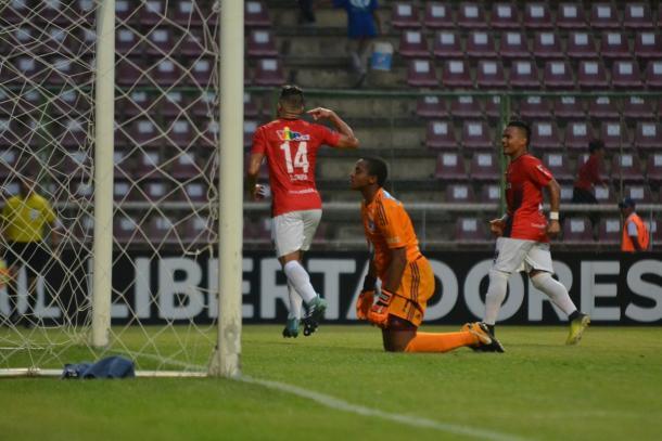 Celebración tras el 2-0. / FOTO: Prensa Deportivo Lara
