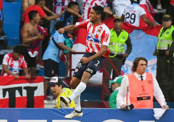 Ruiz festeja el gol del 1-0 | Foto: CONMEBOL Libertadores.