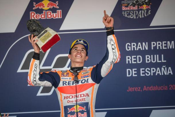 Márquez dedica el triunfo en Jerez a Ángel Nieto / Foto: Box Repsol (Twitter)