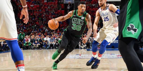 Snart in action vs Philadelphia 76ers via Boston Celtics/Twitter