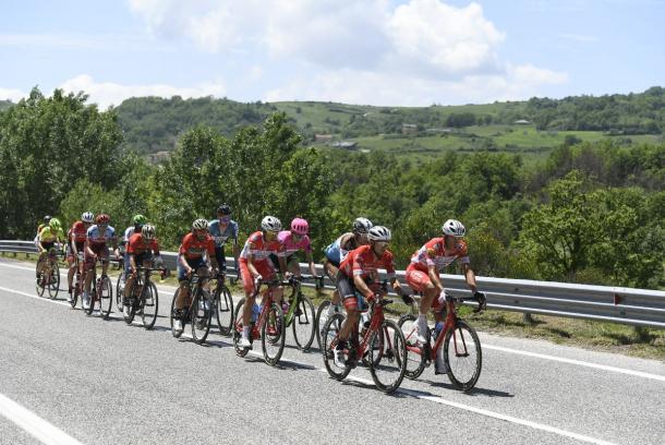 Escapada de la novena etapa del Giro de Italia 2018 | Foto: Giro de Itala