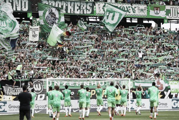 La afición, presente en el peor momento   Foto: Wolfsburgo