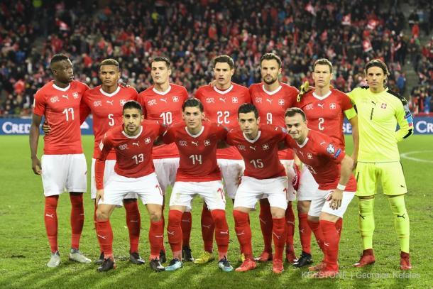 Selección de Suiza antes de disputar un encuentro | Foto: SFVASF