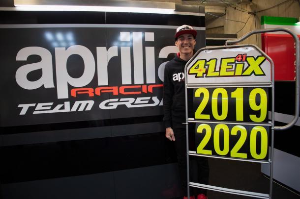 Aleix Espargaró anuncia su renovación en el GP Francia / Foto: Aleix Espargaró (Twitter)