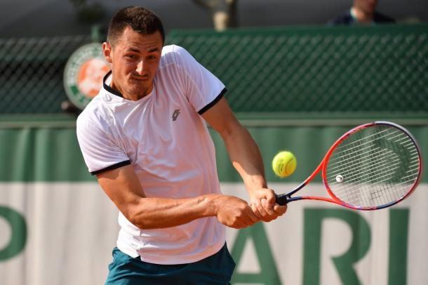 Bernard Tomic looked impressive once again as he made it to the final round of qualification sporting the new Lotto kit (Photo: @AusTennisTalks)