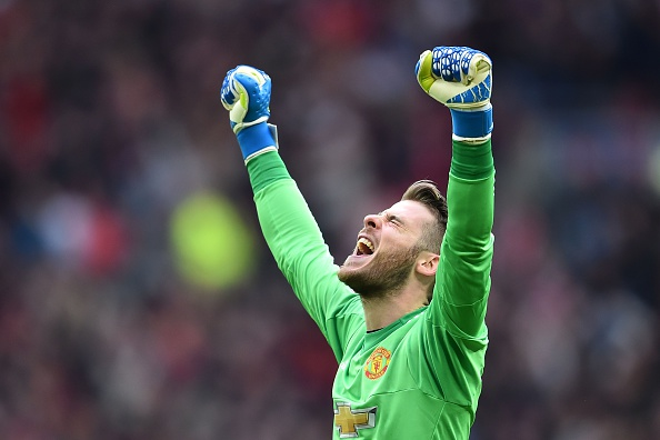 David de Gea's musical taste turns off some of the dressing room according to Ashley Young | Photo: AFP via Getty Images