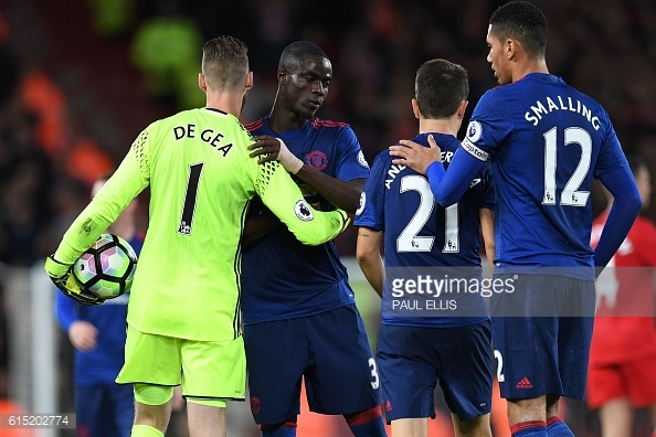 De Gea produced two magical saves to help United take home a point / Getty Images / Paul Ellis