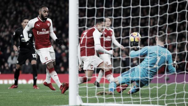 De Gea invencible ante Arsenal. Foto: Premier League.
