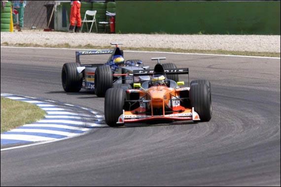 Pedro de la Rosa, en su debut en Fórmula 1 con Arrows. Fuente: Web odicial de Pedro de la Rosa