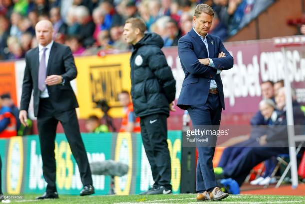 Frank de Boer was relieved of his duties after just four league games. Source | Getty Images.