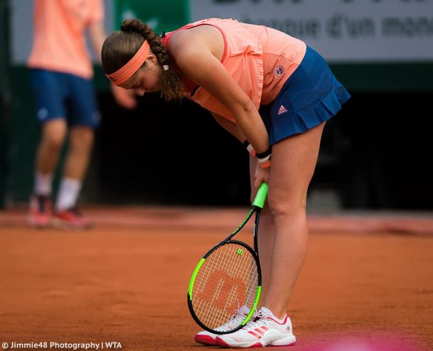 Ostapenko fell at the first hurdle in her title defence (Jimmie48 Photography)