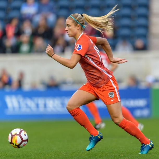 Kristie Mewis for the Dash l source: @HoustonDash on Twitter