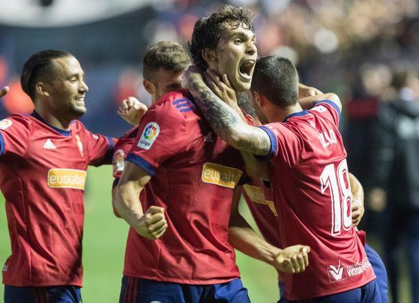 Los jugadores de Osasuna celebran un gol. Foto: osasuna