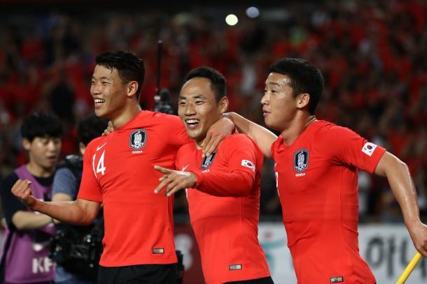 El seleccionado coreano superó a Siria en busca del tiquete directo al Mundial | Foto: @FIFAWorldCup