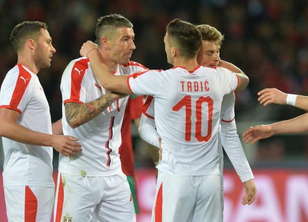 Kolarov y Tadic, dos futbolistas destacados en Serbia | Foto: FA Serbia
