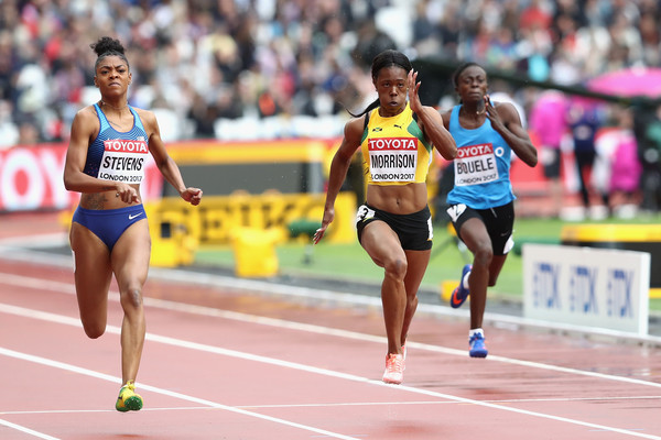 Stevens in action at the World Athletics Championships in 2017 (Image: Alexander Hassenstein)