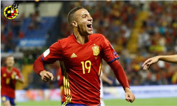 Rodrigo celebra su gol a Alemania. | Foto: SEFutbol.