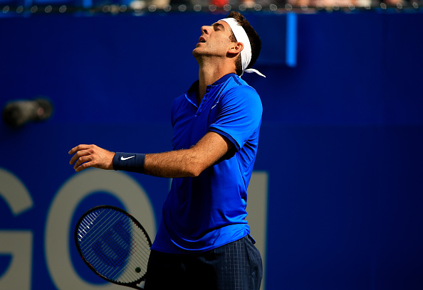 Juan Martin del Potro reacts to losing a point during his first round loss. Photo: Ben Hoskins/Getty Images