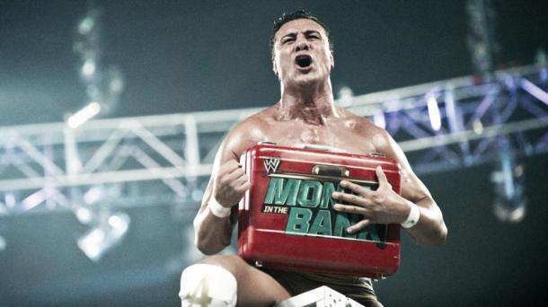 Del Rio captured the briefcase. Photo- Bleacher Report