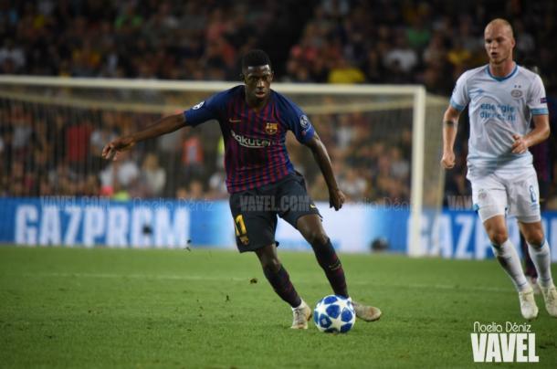 Dembélé, en el foco de atención sin Messi. | Foto: Noelia Déniz (VAVEL)