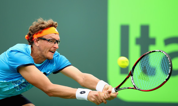 Denis Istomin in 2016 Miami Open action. Photo: Clive Brunskill/Getty Images