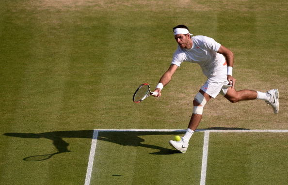 Del Potro in the semifinals of Wimbledon in 2013, the last time he was in action at SW19 (Getty/Dennis Grombkowski)