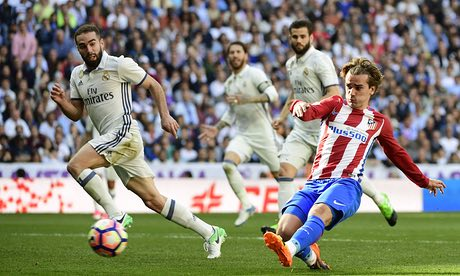 Griezmann in gol nell'ultima sfida di campionato, guardian.com