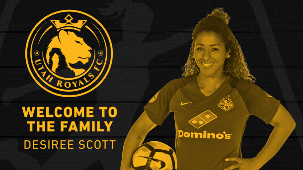 Utah Royals announce Scott's commitment to the club | Source: Utah Royals FC